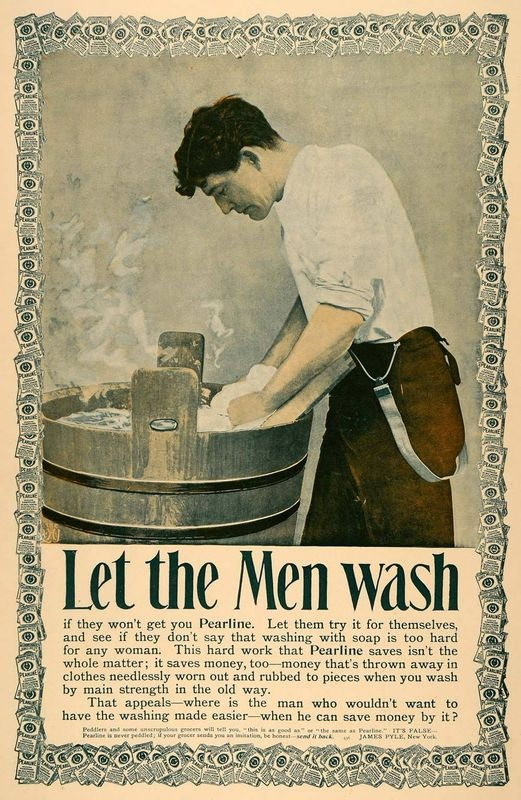 vintage laundry advertisement men